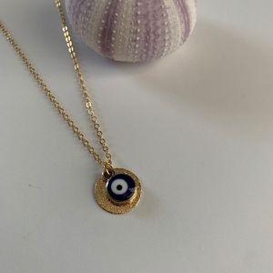 Jewelry - Beach Jewelry / Gold Evil Eye Necklace /Minimalist